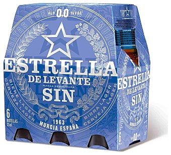 Estrella Levante Cerveza sin alcohol 0,0 6 botellas de 25 cl