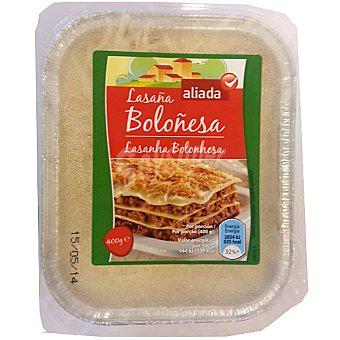 Aliada Lasaña fresca boloñesa envase 400 g Envase 400 g