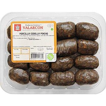 Valarcon Morcilla oreada de pincho con cebolla sin gluten peso aproximado Bandeja 370 g