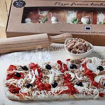 Carrefour Pizza fresca banda atún 1 ud