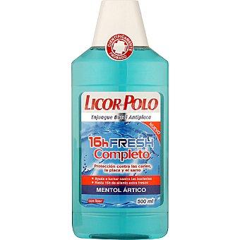 Licor del Polo Enjuague bucal 16h fresh completo mentol ártico con flúor Frasco 500 ml