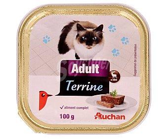Auchan Comida para gatos a base de paté de caza Tarrina 100 g