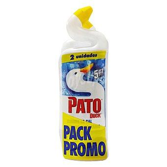 Pato Limpiador de baño 5 en 1 en gel Pack de 2 unidades de 750 ml