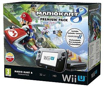 Nintendo Consola Wii U Premium Pack, videoconsola wiiu de 32Gb. con juego Mario Kart 8 preinstalado 1 unidad