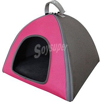 Fred & Rita Igloo para gatos color rosa y gris modelo Eva medidas 50x50x36 cm 1 unidad 1 unidad