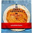 Base de pizza artesana en horno de leña con tomate y un toque de orégano Envase 260 g La Napolitana