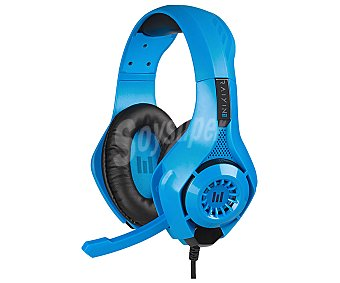 Indeca Auriculares gaming con micrófono compatibles con Ps4, Xbox, Switch, Pc y Mac, color azul, New Rayin 2 indeca