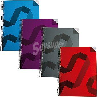 Hipercor Cuaderno con espiral de tapa de polipropileno A5 en colores surtidos 74028 1 unidad