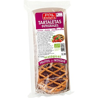 ESPIGA BIOLOGICA Tartaletas integrales ecológicas con frutas de bosque Envase 55 g