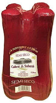 Cabre & Sabate Cava semiseco 4 botellines de 200 ml