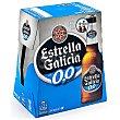 Cerveza rubia sin alcohol 0% Botellin pack 6 x 250 ml - 1500 ml Estrella Galicia