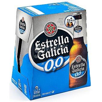 Estrella Galicia Cerveza rubia sin alcohol 0% Botellin pack 6 x 250 ml - 1500 ml