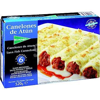 El Corte Inglés Canelones de atún Estuche 520 g