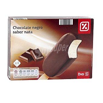 DIA Helado bombón chocolate negro caja 4 uds 334 gr 4 uds 334 gr