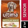 Comida para perro adultos de más de 7 años a base de croquetas de pollo y arroz última Affinity 3 kg Ultima Affinity