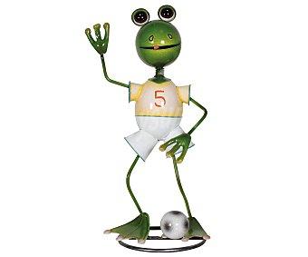 Profiline Figura de resina para jardín con la forma de una rana jugando al fultbol, medidas: 20x18x41 centímetros 1 unidad