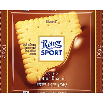 Ritter Sport Chocolatina de chocolate con leche con galleta Tableta 100 g