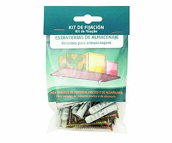 ARREGUI Kit que incluye tacos y tornillos para uso en paredes de material macizo y de albañileria para la fijación de estanterías de almacenaje 1 unidad