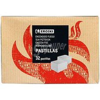 Eroski Pastillas encendido fuego Caja 32 unidades