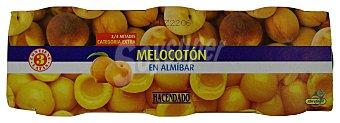 Hacendado Melocoton en almibar Bote pack 3 - 345 g