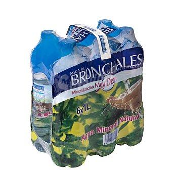 Bronchales Agua mineral natural (mineralización muy débil) Pack 6 botellas x 1 l - 6 l