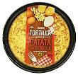 Tortilla patata con cebolla fresca con aceite oliva (incluye plato) Envase 600 g Hacendado