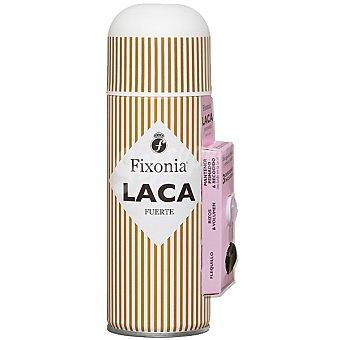 Fixonia Laca fijación fuerte spray 250 ml con 3 difusores uno para mantener el peinado otro para el flequillo y otro para pelos rizados & volumen Spray 250 ml