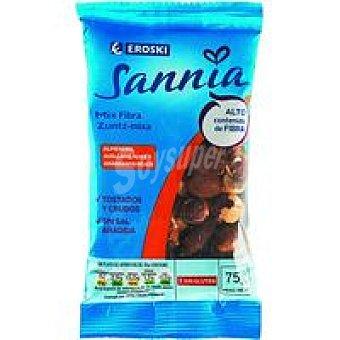 Eroski Sannia Mix de frutos secos con fibra Bolsa 75 g