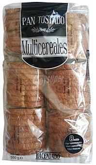 Hacendado Pan tostado multicereales rustico Paquete 550 g