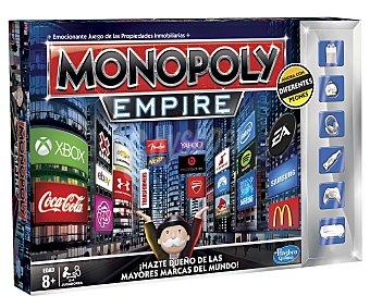 MONOPOLY Juego de Mesa Monopoly Imperio, Incluye Peones con Logotipo de Marcas, de 2 a 4 Jugadores 1 Unidad
