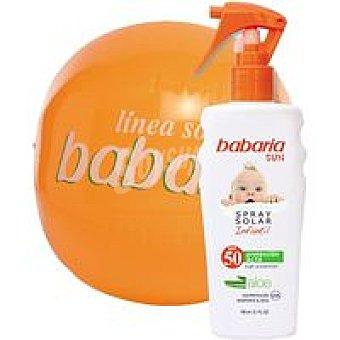 Babaria Crema solar infantil FP50 , + Balón Spray 150 ml