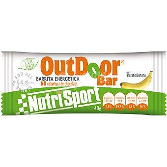 NUTRISPORT Barrita energética sin cobertura de chocolate sabor plátano Outdoor 40 g