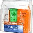 Pack con emulsión bronceadora SPF-30 + protección facial antiedad + gel after sun aloe vera  Gisele Denis