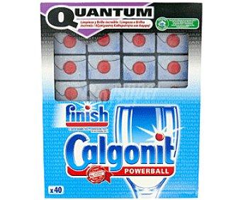 FINISH QUANTUM Detergente Lavavajillas Pastillas Quantum Poweball Lavavajillas 40p