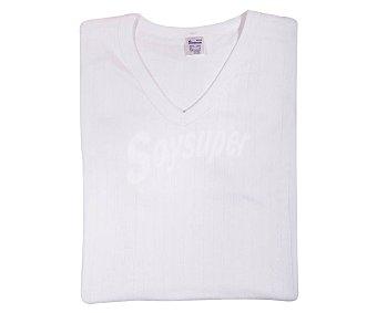 Abanderado Camiseta termal de manga corta, cuello pico color blanco, talla XXL (60).