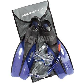 RUNFIT M4206-L set de buceo en color azul talla 40-42