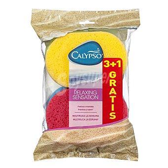 Calypso Esponja de baño suave Bolsa 4 u