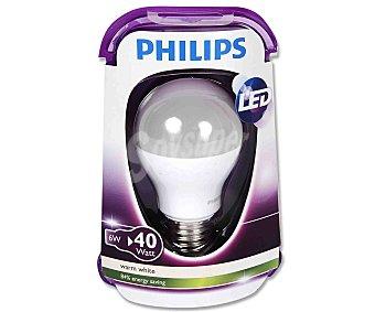 Philips Bombilla led esférica 6W, con casquillo E27 (grueso) y luz cálida 1 unidad 1u