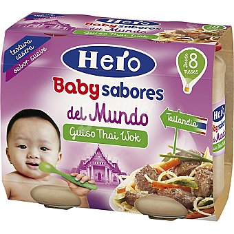 Hero Baby Tarrito de guiso thai wok sabores del mundo. Desde 8 meses pack 2 x 190 g