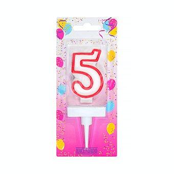 Hacendado Vela cumpleaños n 5 U