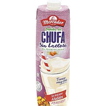 Mercader Horchata de chufa sin lactosa, ni proteína lactea y sin azúcares añadidos 1 l