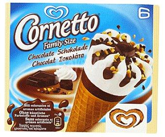 Cornetto Frigo Cono helado de Nata y Chocolate Pack 6 Unidades de 93 Mililitros