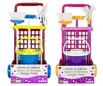 Vicam Carrito con Accesorios de Limpieza 1 Unidad