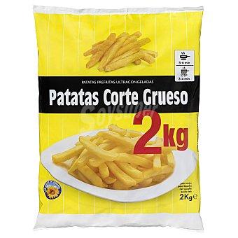 Hacendado Patata prefrita congelada corte grueso clasica Paquete 2 kg