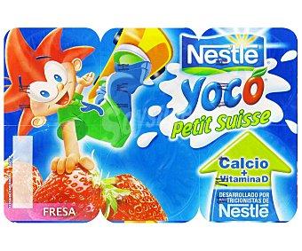 Nestlé Petit Líquido de Fresa Yoco 6x 55g