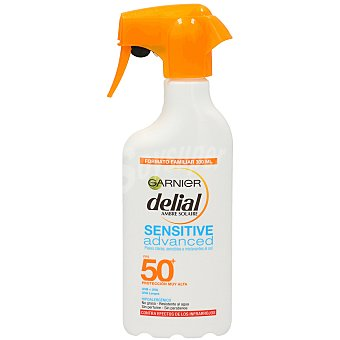 Delial Garnier Protector solar F50+ Sensitive advanced (pistola) Botella de 300 ml