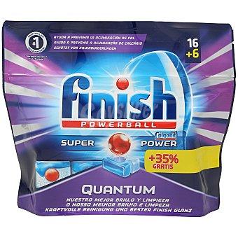 Finish Quantum lavavajillas máquina powerball super en cápsulas bolsa 22 lv