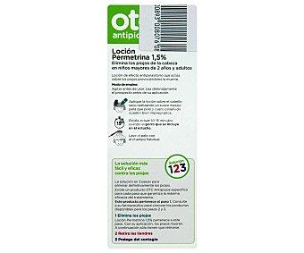 OTC Loción antipiojos con permetrina , sin alcohol 125 Mililitros