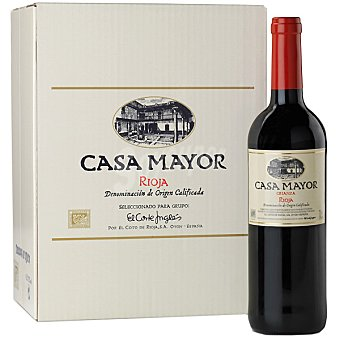 CASA MAYOR vino tinto crianza D.O. Rioja elaborado para grupo El Corte Inglés caja  6 botellas 75 cl