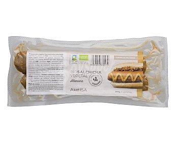 Ahimsa Preparado vegetal tipo salchicha alemana 200 gramos